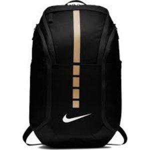 Nike Elite Pro Unisex Black/Metallic Gold Backpack